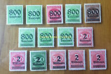EBS Germany 1923 Inflation Overprints set (III) Michel No. 301-312 MNH**