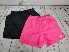 Lot of 2 Umbro Soccer Shorts Pink and Black Youth Medium 0239