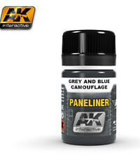 Ak Interactive AKI 2072 - Air Series: Panel Liner Grey & Blue Camouflage Paint
