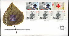 Netherlands 1992 Red Cross Booklet Pane FDC First Day Cover #C28010