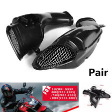 For Suzuki GSXR 600/750/1000 2000-03 Pair ABS Air Intake Tube Duct Cover Fairing