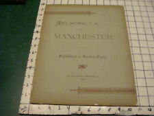 1892 ART WORK of MANCHESTER (NH) part 5 -- w pics of important town buildings