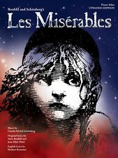 Les Miserables Updated Souvenir Edition Sheet Music Piano Solo NEW 000290271