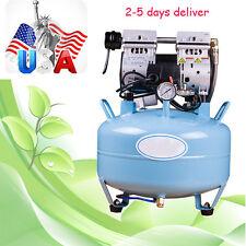 USA 30L Dental UNIT silent Noiseless Oil fume Oilless Air Compressor 130L/min AA