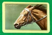 Playing Cards 1 Single Swap Card - Vintage Named ** CARIOCA ** Horse