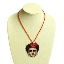 Frida Kahlo Pendant Crystal Glass Beads Necklace Lot Wholesale Six Pack Assorted