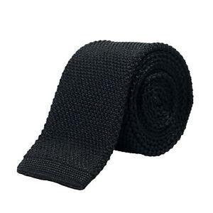 Hugo Boss Men's Black 100% Silk Square End Tie