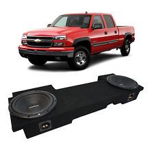 """01-06 Chevy Silverado HD Crew Truck Rockford Prime R1S412 Dual 12"""" Sub Box 2 Ohm"""