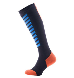 SealSkinz MTB Mid Knee - Waterproof Socks - Black / Blue / Orange