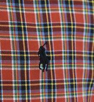 Ralph Lauren Mens Oxford Button Up Shirt Christmas Tartan Classic Fit Red Sz S