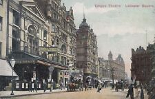 London Postcard. Empire Theatre, Leicester Sq. Westminster. Horse Bus!   1907
