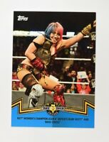 2018 Topps WWE Women's Division Matches and Moments Blue #NXT-7 Asuka /25