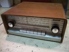 Vintage Philips A5X 83A / 8 tube tuner with wood cabinet - project - rare!