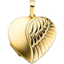 medallón de corazón 333 Oro Amarillo H 30,2 Colgante medalion metalion Amuleto