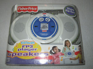 NEW FISHER PRICE KID TOUGH FP3 PLAYER SPEAKERS BOOMBOX 2006 SEALED BOX RARE