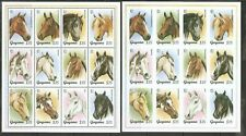Guyana SC # 2946a-l Horses, Perforated And Imperforated .Miniature Sheets. MNH