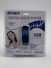 Jensen 2GB Digital Audio MP3 Player Voice Recorder SMP-2GBL Flash Memory