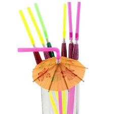 20x Art Straw Multi-color Fruit Cocktail Fluorescent Umbrella Hen Party 0h 2