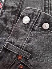 Levi's 501 W32 L34 jeans gris clásico rectos excelentes USA +2AGr