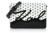 Karl Lagerfeld K Signature Special Studs Shoulder Bag Dots Black White NWT
