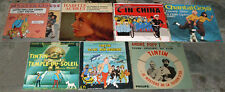 RARE 7 disques 45T TINTIN (Toison d'or-Chantal Goya-Martin Circus-Lac requins..)