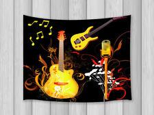 Violin & musical notes Tapestry Hippie Wall Hanging Bohemian Mandala Throw Dorm