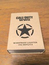 New Lower Price *RARE* Call of Duty WW2 Black Crackle 1941 Replica Zippo Lighter