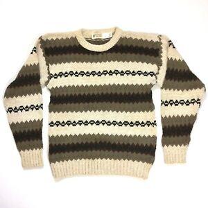 Northwest Territory Mens Crewneck Sweater Vintage Multicolor Size L