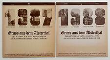 2 Postkarten-Kalender Gruss aus dem Alsterthal, 1987/88, Alstertal auf alten AKs