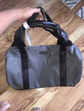 Calvin Klein Overnight Duffel Bag Silver Gray Black Weekender Travel 19 Inches
