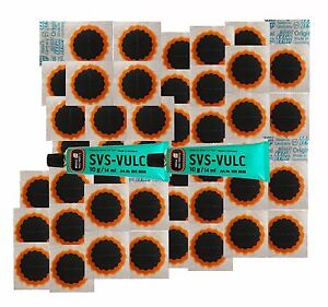 REMA TIP TOP BICYCLE PUNCTURE REPAIR KIT INNER TUBE TYRE 48 PATCHES + 2 GLUE