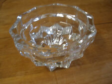 CLEAR CRYSTAL GLASS TAPER CANDLE HOLDER STAR PATTERN