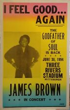 "James Brown Concert Poster - 1994 ""I Feel Good... Again"" - Three Rivers Stadium"