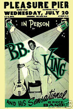 Blues Master: BB King at the Pleasure Pier Concert Poster Circa 1955