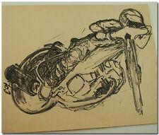 Mike Faria Autoroute Moto Brute Croquis Original Amateur Artwork Chuck Lane