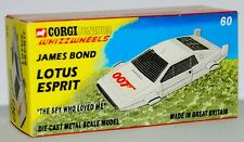 Custom Made casella di visualizzazione solo per CORGI JUNIORS Bond Lotus Esprit GRATIS UK
