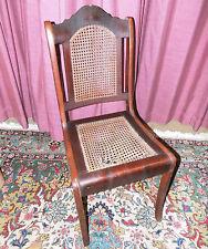 Antiker Stuhl Wiener Korbgeflecht ca. 1900 / Holzstuhl als Restaurationsobjekt