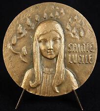 Médaille Sainte Lucille de Carthage et les palmes de son martyr à Carthage medal