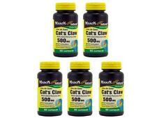 5 X 60 = 300 CAPSULES CAT'S CLAW UÑA DE GATO CATS 500 MG NATURAL Immune System
