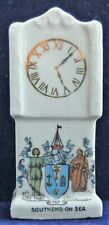 CRESTED  CHINA LONG CASE CLOCK - SOUTHEND ON SEA CREST.