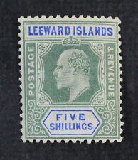 Ckstamps: Gb Stamps Collection Leeward Islands Scott#28 Mint Lh Og