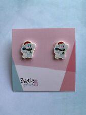 Christmas Care Bears Style Earrings, Resin, Novelty, Cute, Surgical Steel Stud