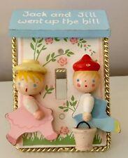 Vintage Wooden Jack & Jill Light Switch Plate Cover Nursery Decor