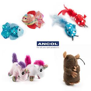 Ancol Cat Kitten Toy Mice Mouse Fish Unicorn Play Fun Colourful Cat Nip Batting