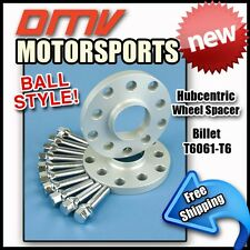 15MM Hubcentric Wheel Spacers Silver Ball Bolts Bentley 5x112 57.1 14x1.5