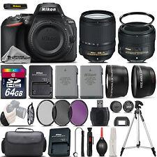 Nikon D5600 Digital SLR Camera + 18-140mm VR + 50mm 1.8G Lens + EXT BATT - 64GB