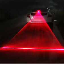 Car Auto red LED Laser Fog Light Anti-Collision Taillight Brake Warning Lamp