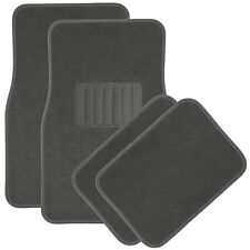 Car Floor Mats for Auto 4pc Carpet Semi Custom Fit Heavy Duty w/Heel Pad Grey