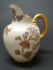 Royal Worcester #1094 Blush Ivory Gilded FLAT BACK PITCHER / EWER / JUG 6-1/2""