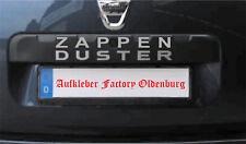 Sticker Dacia Duster 2 Bj. 2014-heute Tuning Aufkleber ZAPPEN silber 1A Qualität